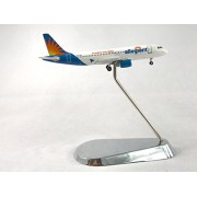 GeminiJets Allegiant Air Airbus A320-200 Diecast Airplane Model N217NV With Chrome Stand 1:400 Scale Part# GJAAY1325