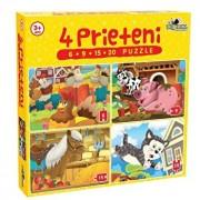 Puzzle 4 Prieteni Mici, 50 piese