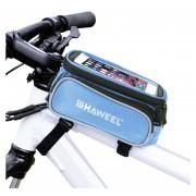 Haweel Bicicleta Bastidor Doble Pantalla Táctil Teléfono Bolsa Para IPhone 7 Plus / IPhone 7 / IPhone 6 Y 6 Plus / IPhone 6s Y 6s Plus (azul)