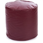 Home Story Round Ottoman Medium Size Maroon Cover Only