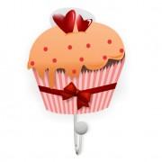 Cabideiro Cupcake 10x17cm Branco Kapos