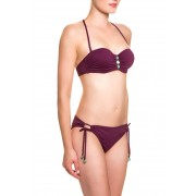 Lascana Neckholder-Bikini, wattiert, weinrot