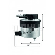 Filtru combustibil - MAHLE ORIGINAL - KL569