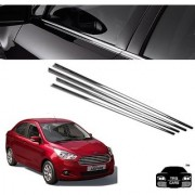 Trigcars Ford Figo Aspire Car Window Lower Chrome Garnish