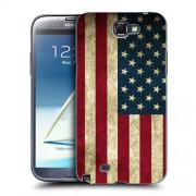 Husa Samsung Galaxy Note 2 N7100 Silicon Gel Tpu Model USA Flag