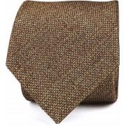 Krawatte Seide Dessin Braun K82-13 - Braun