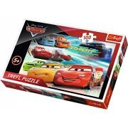 Puzzle clasic pentru copii Cars Cursa Eroilor 100 piese