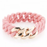 The Rubz Natural Silicone 15mm Unisex Bracelet Candy & Rose Gold