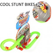 MousePotato Bike Track Racer Magical Bikes Flying Through Tracks with Rotating 3D Lights & Sound (Bikes)