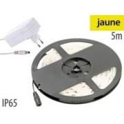 Lunartec Bande à LED pour extérieur, 5 m, avec prise secteur - Jaune