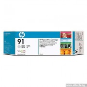 HP 91 Pigment Light Grey Ink Cartridge, 775ml (C9466A)