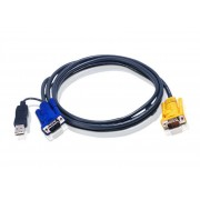 ATEN USB KVM Cable with 3 in 1 SPHD and built-in PS/2 to USB converter 1,8m 2L-5202UP