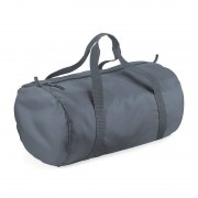 Bagbase Donkergrijze ronde polyester sporttas/weekendtas 32 liter
