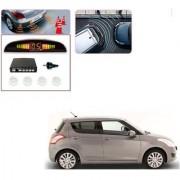Auto Addict Car White Reverse Parking Sensor With LED Display For Maruti Suzuki Swift Type-2(2011_2017)
