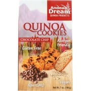 Andean Dream Gluten Free Quinoa Cookies Chocolate Chip - Case of 6 - 7 oz.