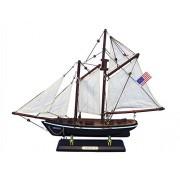 "America 16"" - Wood Sailboat Centerpiece - Americas Cup Replica Model - Sailing"