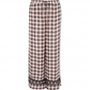 River Island Womens Red check lace trim pyjama trousers