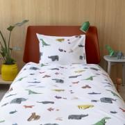 Snurk Paper Zoo dekbedovertrek-1-persoons 140 x 220 cm incl. kussensloop 60 x 70 cm