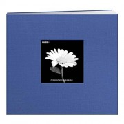 Pioneer 8 Inch by 8 Inch Postbound Fabric Frame Cover Memory Book, Sky Blue