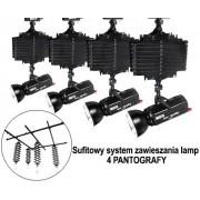 Sufitowy system zawieszania lamp 4 PANTOGRAFY