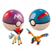 POKEMON BALLS SET OF 2 WITH RANDOM TOYS SET OF 2 (BALL-7CM & TOY-2CM)