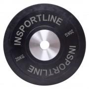 inSPORTline Gumis Súlytárcsa InSPORTline Bumper Plate 20 Kg 10380/szintelen