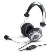 Fejhallgató, mikrofon, hangerőszabályzóval, GENIUS HS-04SU (GEFH04SU)