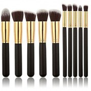 Royalkart 10 pcs Makeup Brushes Premium Set Cosmetics Foundation Blending Blush Face Powder Brush Makeup Brush Kit