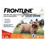 Frontline Plus For Small Dogs Up To 10kg (Orange) 3 Pipettes