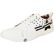 FAUSTO White Men's Stylish Sneakers