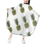 """KATEJ Professional Barber Cape Salon Aprons Pineapple Pattern Boys Girls Hair Styling Haircut Gown For Cutting Coloring Perming Hairdresser Shampoo Proof 39"""" X 47"""
