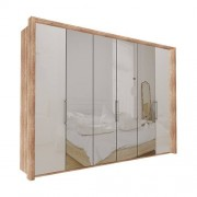 Garderob Atlanta - Ljus rustik ek 300 cm, 236 cm, Med ram