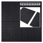 Intergard Dalle caoutchouc noir 1000x1000x25mm (m2)