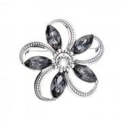 Srebrna broszka z kryształami Swarovski B 1898 : Kolor - Silver Night
