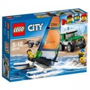 Конструктор ЛЕГО Сити - 4x4 с катамаран, LEGO City, 60149