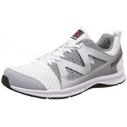 Reebok Men's Supreme Run White, Metallic Silver, Flat Grey and Black Running Shoes - 8 UK/India (42 EU)(9 US)