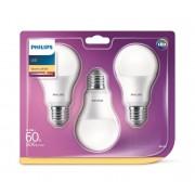 SET 3x Bec LED Philips A60 E27/8,5W/230V