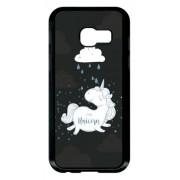 Coque Samsung Galaxy A3 Modele 2017 Unicorne Nuage Fond Noir