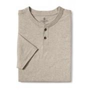 ランズエンド LANDS' END メンズ・スーパーT/ヘンリーネック/半袖/Tシャツ(オ-トミ-ル ヘザー)