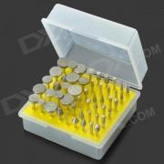 50-en-1 Accesorio de molienda electrica Juego de molinos de aleacion de diamante - Plata