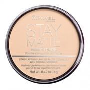 Rimmel London Stay Matte Long Lasting Pressed Powder 14G 005 Silky Beige Per Donna (Cosmetic)