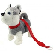 My Dancing Puppy 'Husky Puppy' Walk Along Toy Stuffed Plush Dog, Realistic Dancing & Walking Actions with Music (Colors May Vary)