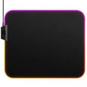Геймърски пад SteelSeries QcK Prism Cloth - Medium RGB, Черен, STEEL-PAD-63825