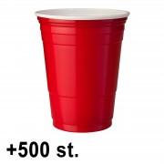 StudyShop 500 st. Red Cups Röda Muggar (16 Oz.)