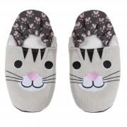 Cosy & Trendy Pluche kersenpit warmte magnetron katten/poezen sloffen/pantoffels voor volwassenen