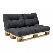 [en.casa]® Paletový nábytek - interiérová sada polštářů - model A - tmavě šedá
