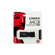 Pendrive, 64GB, USB 3.0, KINGSTON DT100 G3, fekete (UK64GDT13)