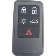 Carcasa cheie Smartkey compatibil Volvo 5 butoane fara lamela negru