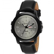 Evelyn Grey Dial Analog Sports Watch for Men/Boys Black Leather Strap Casual Stylish Watch Eve-762