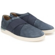Clarks Stanway Easy Blue Suede Casual For Men(Blue)
